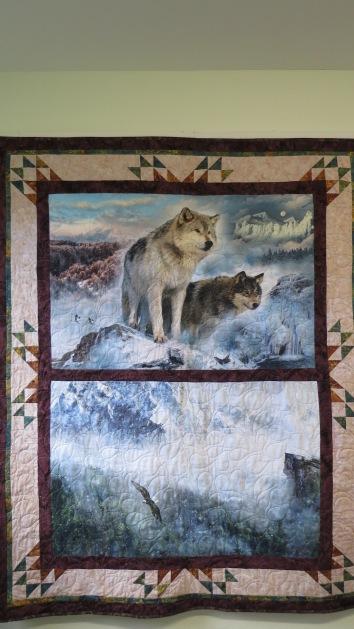 wolf quilt
